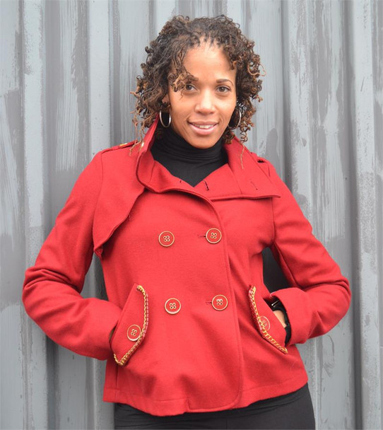Baby Phat Red Wool Jacket