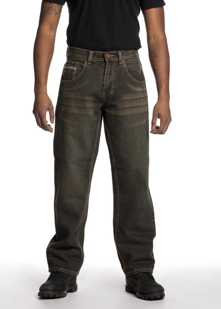 Men's Brown Relaxed Fit Denim Jeans Big and Tall