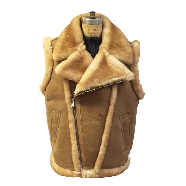 Jakewood G Gator Tan Sheepskin Vest