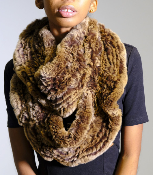 Brown Mink Infinity Scarf