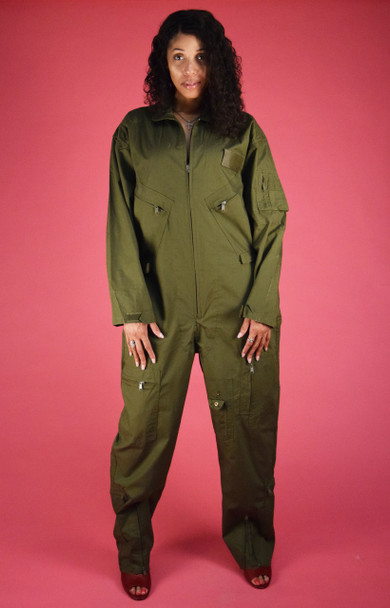 Green Military Jumpsuit