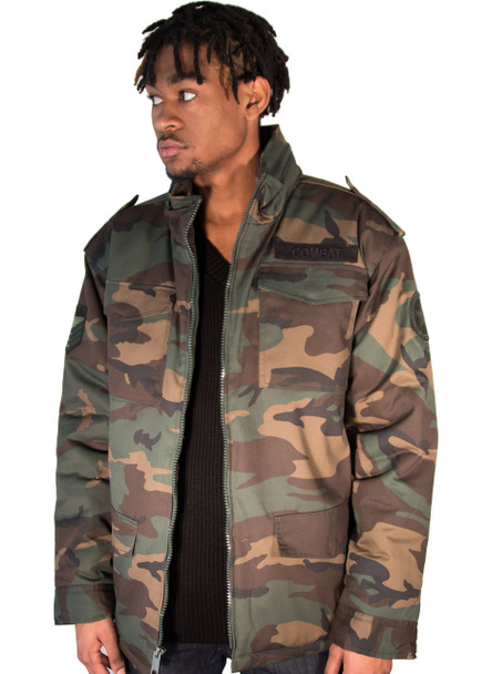 Mens Padded Combat Camo Jacket