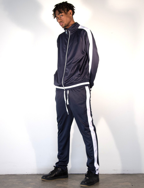 Contender Blue and White Track Suit