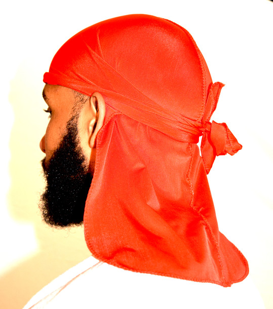 Red Silky Ultra Soft Du-Rag