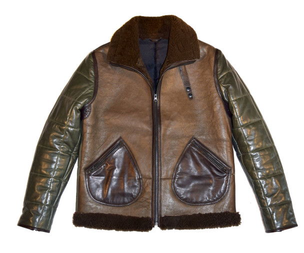 Quilted Flavor Brown Green Sheepskin