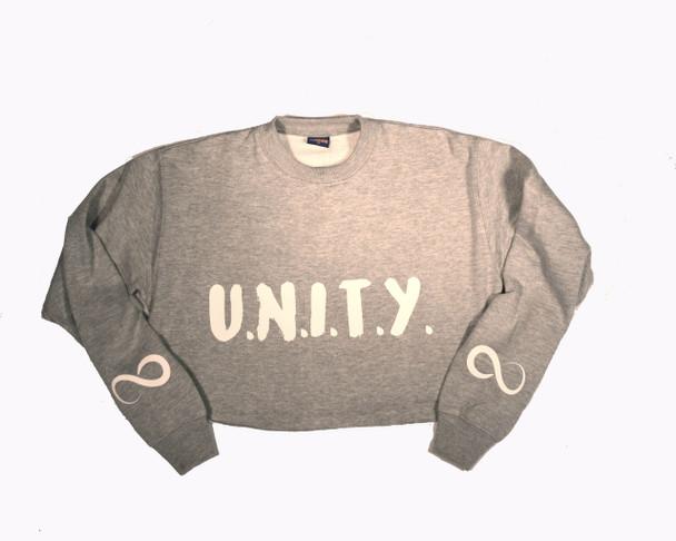 U.N.I.T.Y. Grey Crop Sweatshirt
