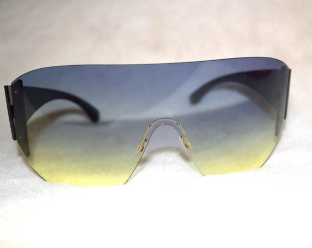 Oversized Goggle Sunglasses Blue Ombre
