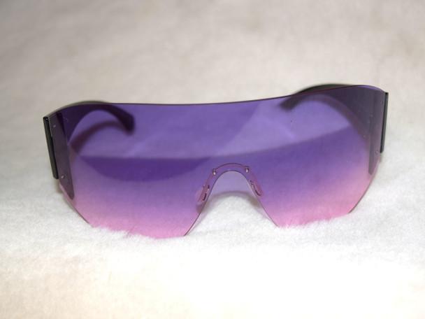 Purple Oversized Goggle Sunglasses