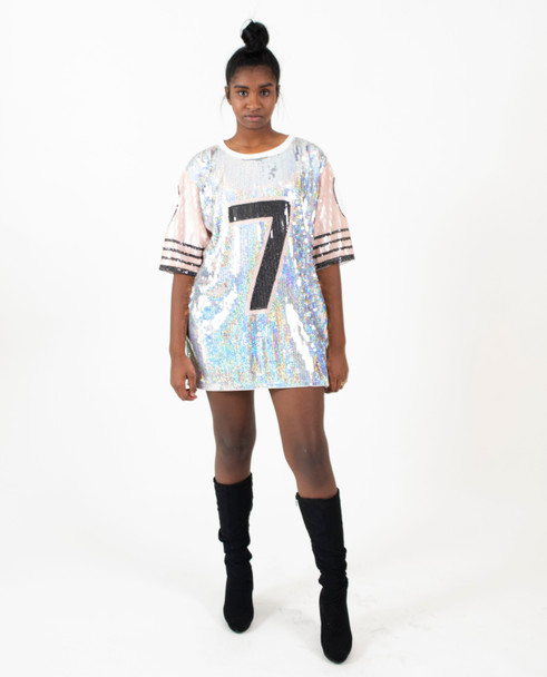 Sequin Ladies Jersey Shift Dress