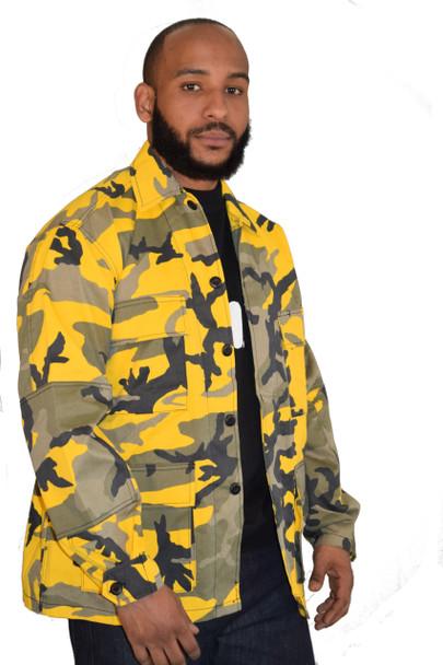 Savage Yellow BDU Shirt Jacket