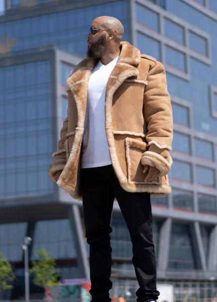 Old School Tan Sheepskin Jacket