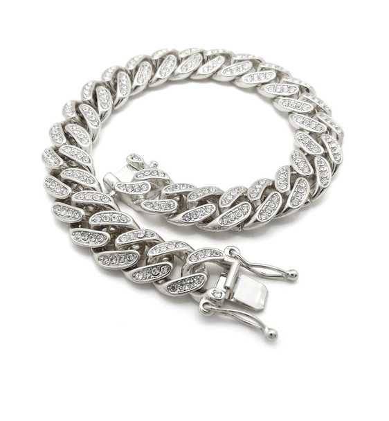 Silver Cuban Chain Anklet