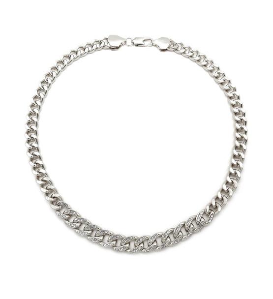 Silver Cuban Link U Chain