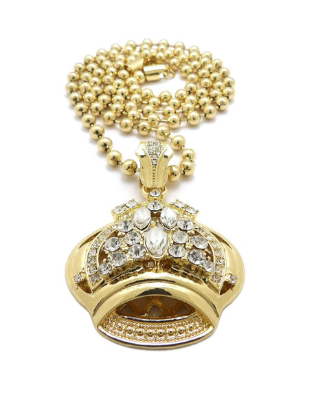Icey Gold Crown Chain