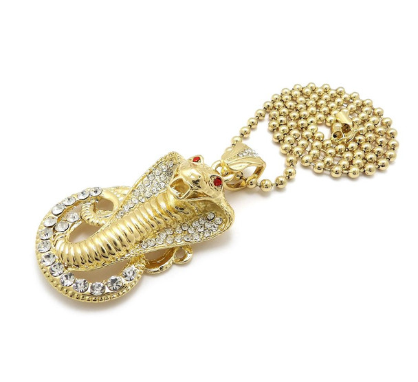 Gold Snake Pendent Chain