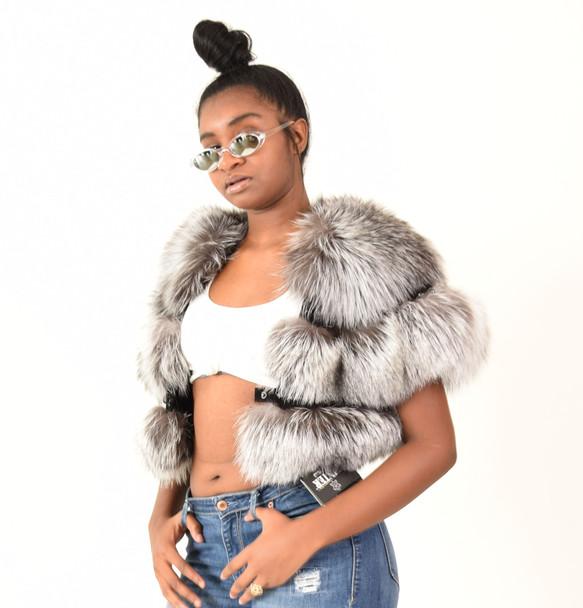 Crystal Fox Ladies Cropped Bolero Jacket