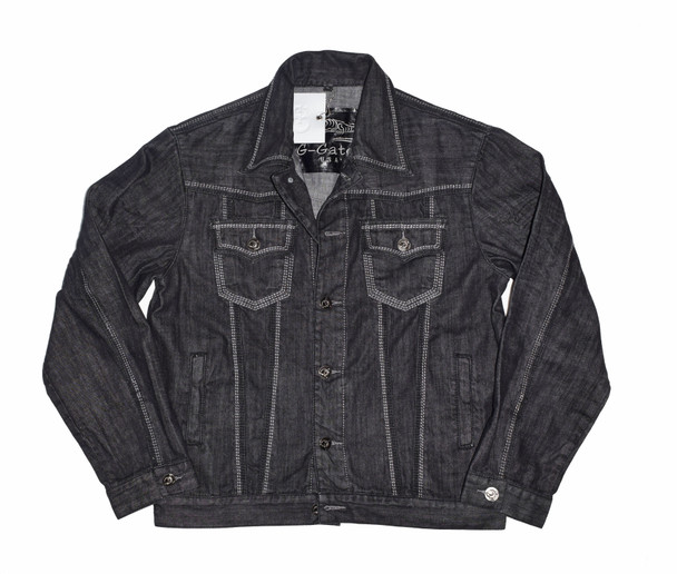 Black and Gray G Gator Jean Jacket
