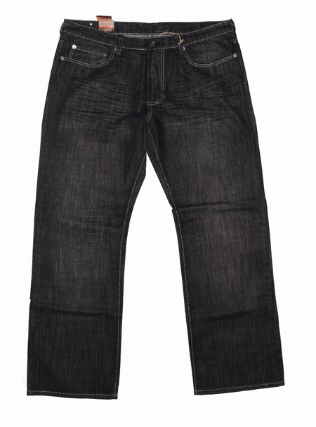 Black and Grey Stitched Mens Jeans