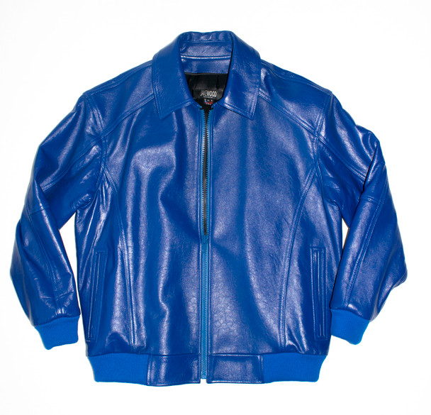 It's the 90s Royal Blue Baseball Leather Jacket