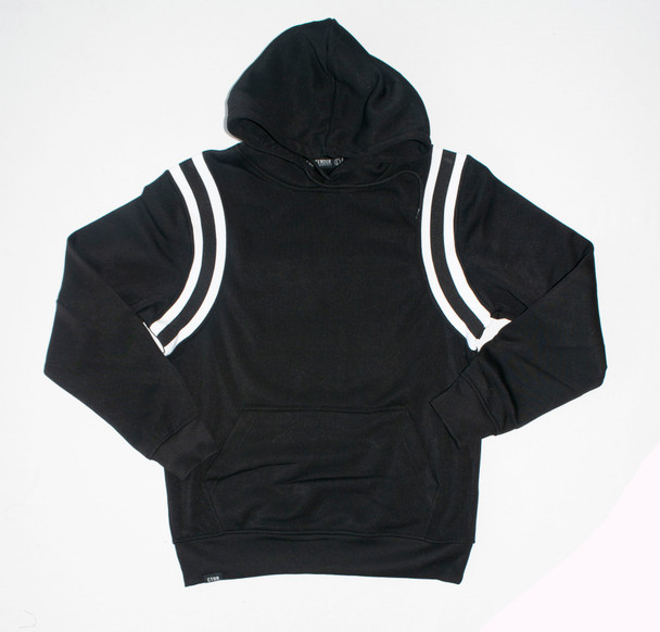 Side Striped Black Hoodie Side Striped Black Hoodie