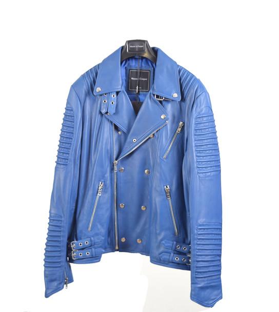 Royal Blue Moto Jacket