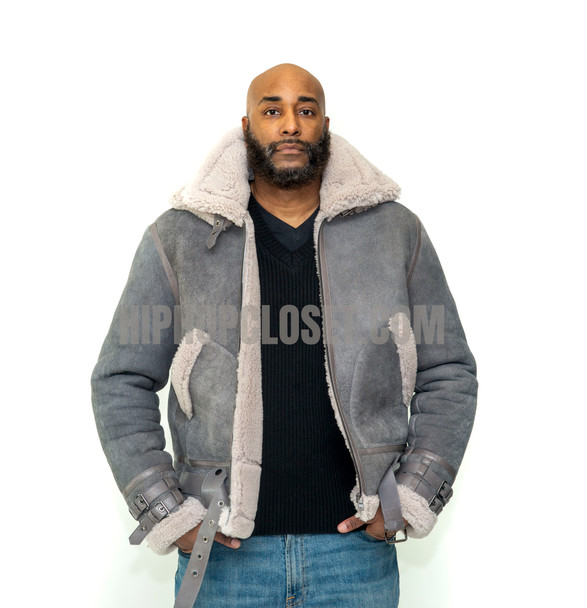 Gray Pilot Sheepskin Jacket
