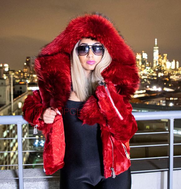 Red Diamond Mink Ladies Jacket