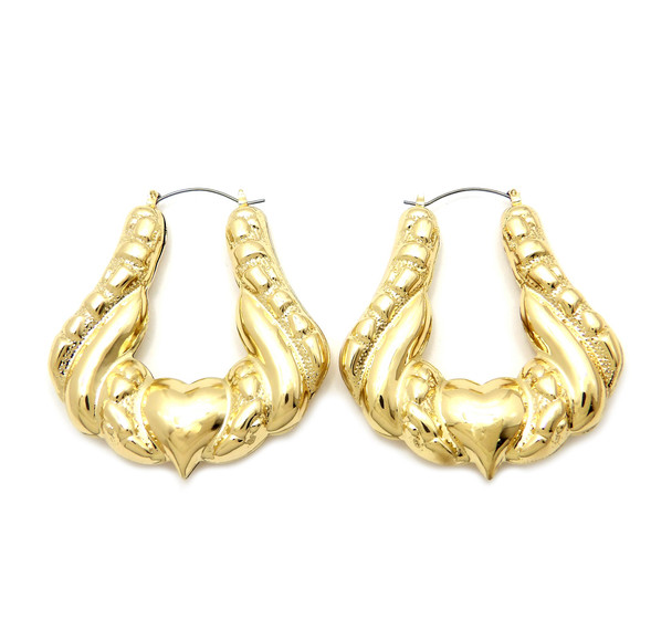 Gold Plated Doorknocker Earrings
