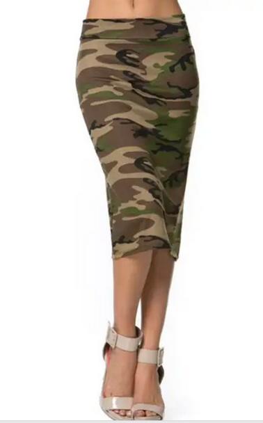 Camo Stretch Skirt