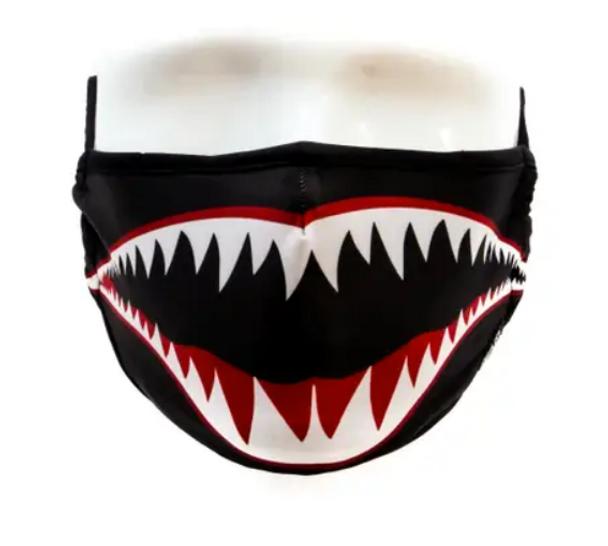 Fydelity Black Shark Mouth Face Mask