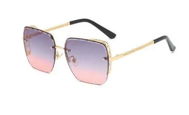 Women Flat Top Square Anti-Reflective Tinted Fashion Sunglasses