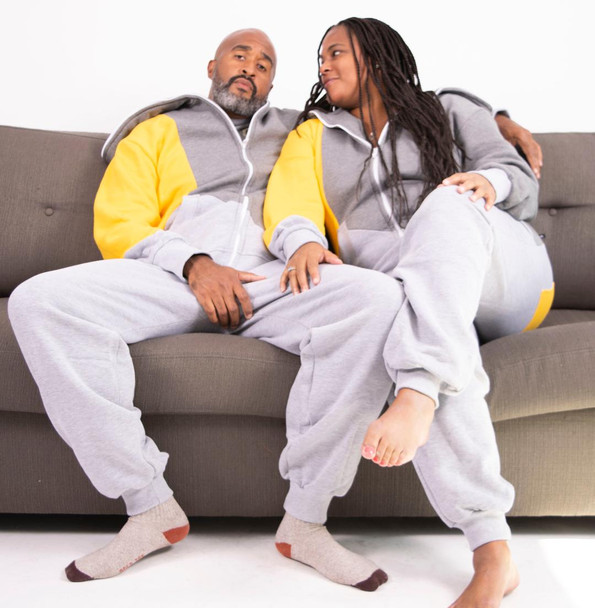 His and Hers Hooded Onesie
