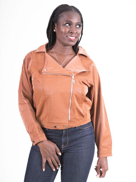 Moto style Vegan Leather Jacket