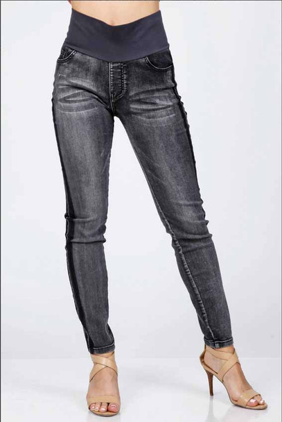 High Waist Jeans With Tummy Control Band