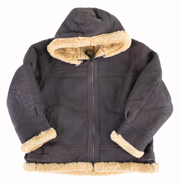 Brown Shearling Jacket for kids