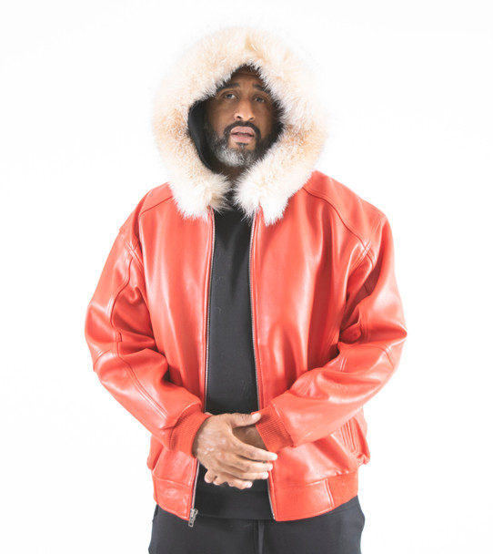 Red Leather Jacket Fur Lined