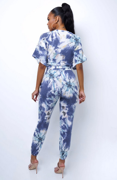 Tie Dye 2 Piece Pants Set