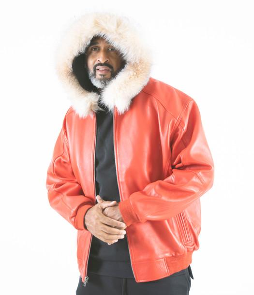 Red Snorkal Leather Jacket