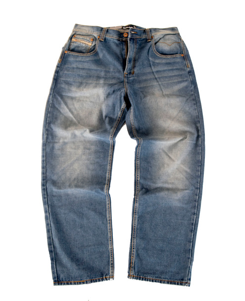 Relaxed fit Mid Blue Jeans