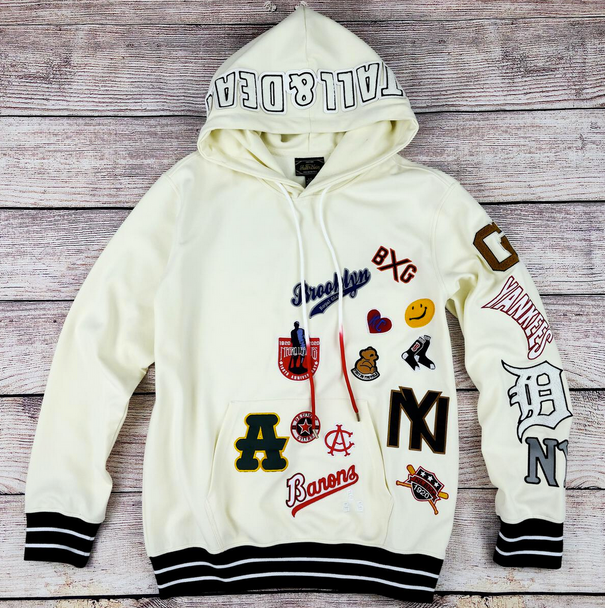 Stall and Dean Cream Negro League Baseball Patches Hoodie