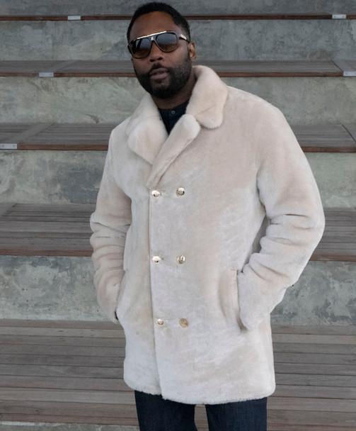 Cream Mouton Pea Coat