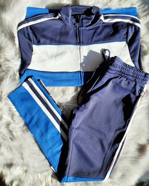 Royal Blue Tricot Track Suit