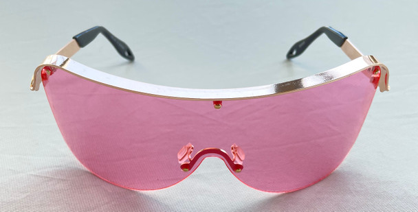 Oversized Pink Colored Sunglasses