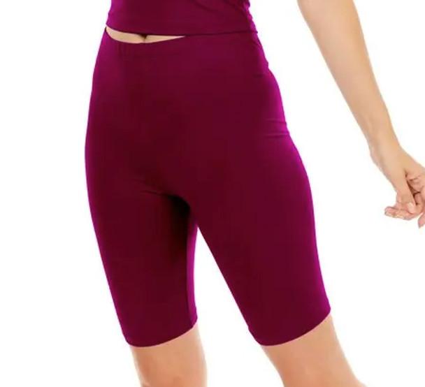 Merlot biker shorts