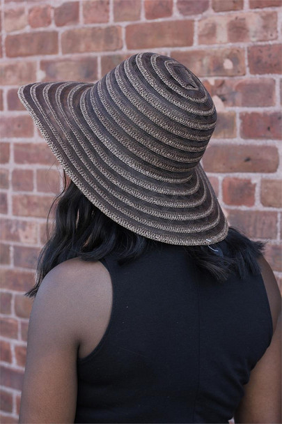 Brown and Black Summer Beach Hat