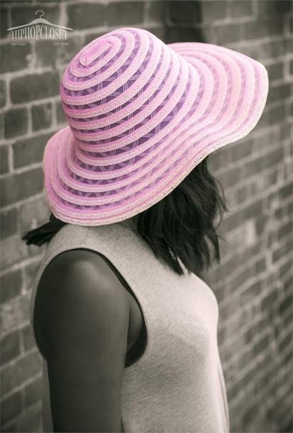 Pink Summer Beach Hat