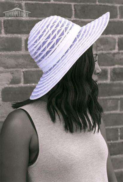 White Floppy Beach Hat