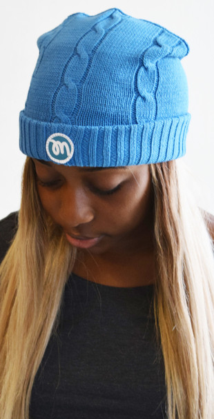 Blue Mezzan Knit Winter Cap