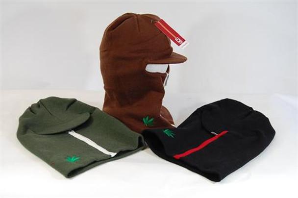 Zip-Up Visor Knit Winter Hat