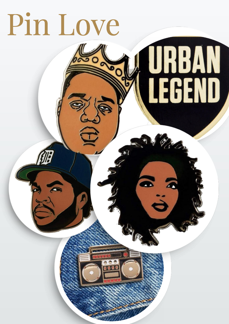 Hip Hop and Rap Enamel Pins your favorite rapper